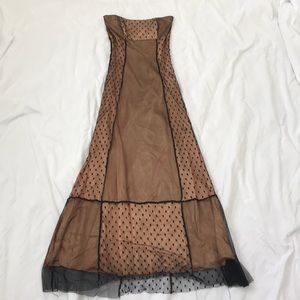 Copper and Black Strapless dress